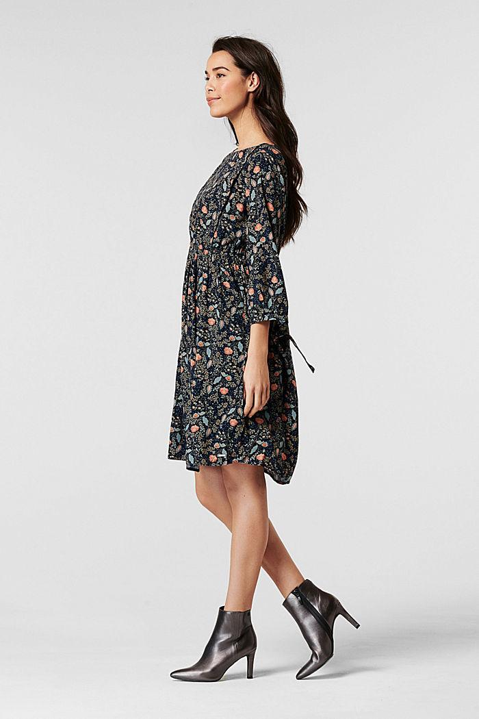 Flower-Kleid mit Stillfunktion, LENZING™ ECOVERO™, NIGHT SKY BLUE, detail image number 1