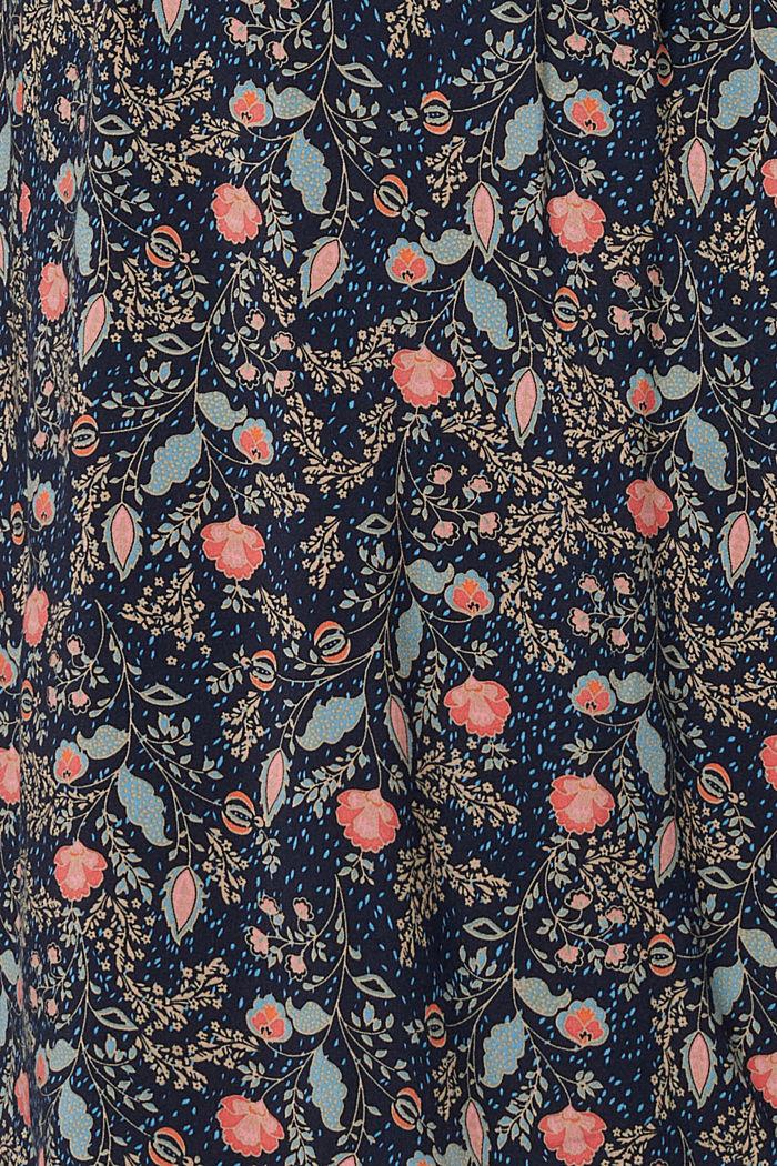 Flower-Kleid mit Stillfunktion, LENZING™ ECOVERO™, NIGHT SKY BLUE, detail image number 4
