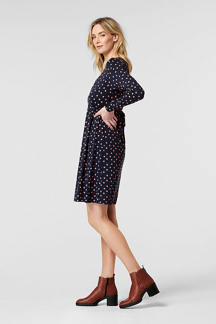 Jerseykleid mit Stillfunktion, LENZING™ ECOVERO™, NIGHT SKY BLUE, detail image number 1
