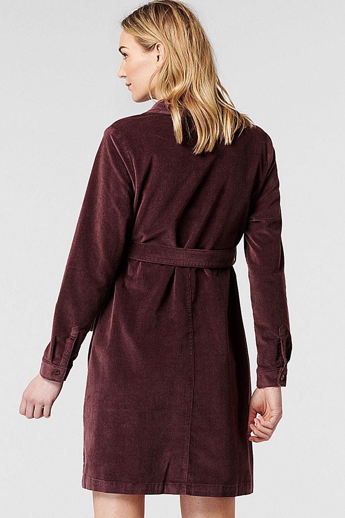 Sztruksowa sukienka dla matek karmiących z bawełny, COFFEE, detail image number 1