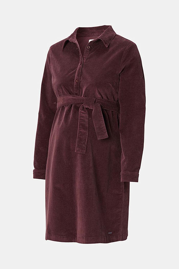 Vestido en pana de algodón apto para lactancia