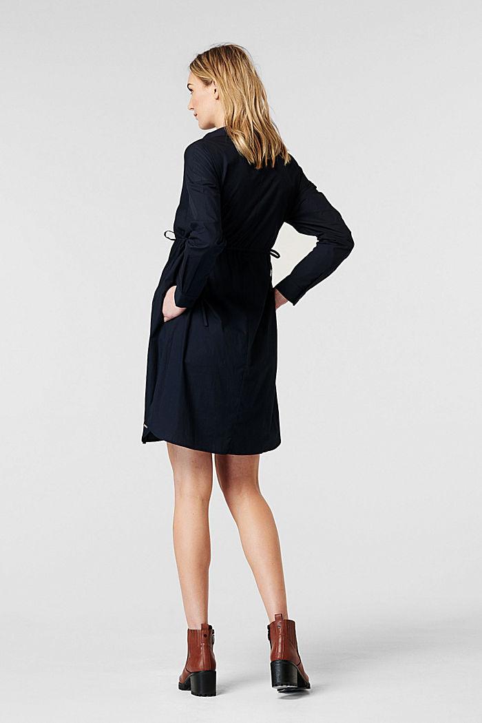 Vestido camisero en 100% algodón, NIGHT SKY BLUE, detail image number 1
