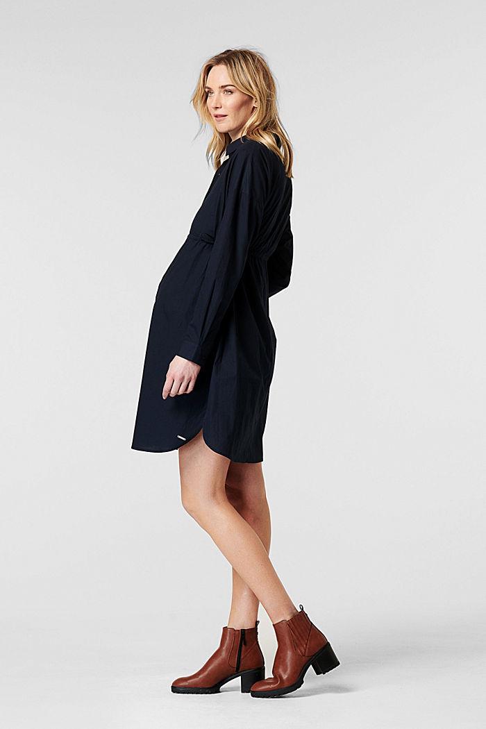 Vestido camisero en 100% algodón, NIGHT SKY BLUE, detail image number 3
