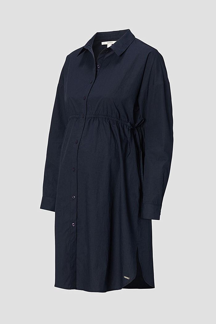 Vestido camisero en 100% algodón, NIGHT SKY BLUE, detail image number 4