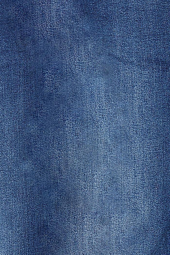 Stretchjeans met band over de buik, biologisch katoen, BLUE MEDIUM WASHED, detail image number 2