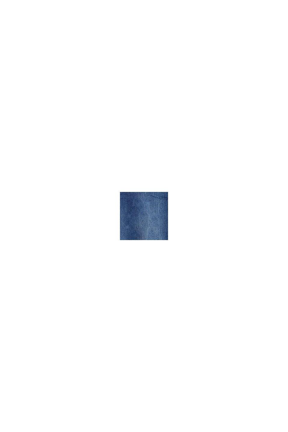 Stretchjeans met band over de buik, biologisch katoen, BLUE MEDIUM WASHED, swatch