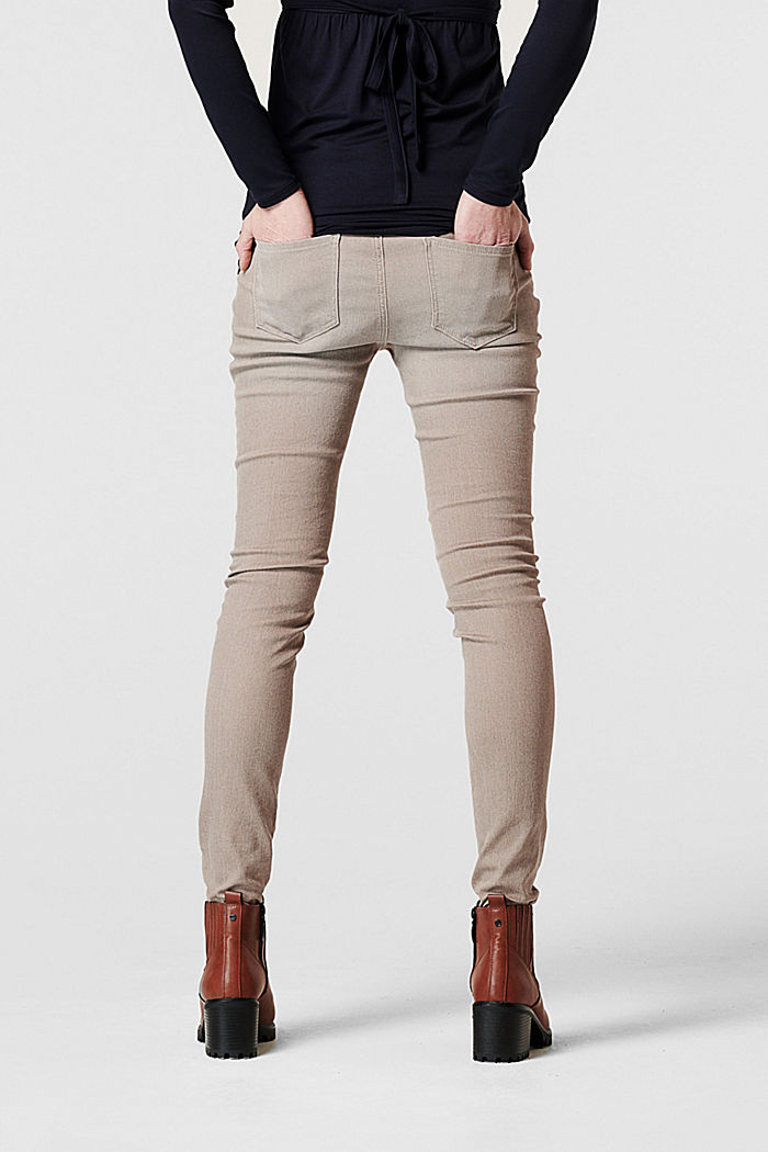 Stretch jeans with an over-bump waistband, organic cotton, LIGHT TAUPE, detail image number 1