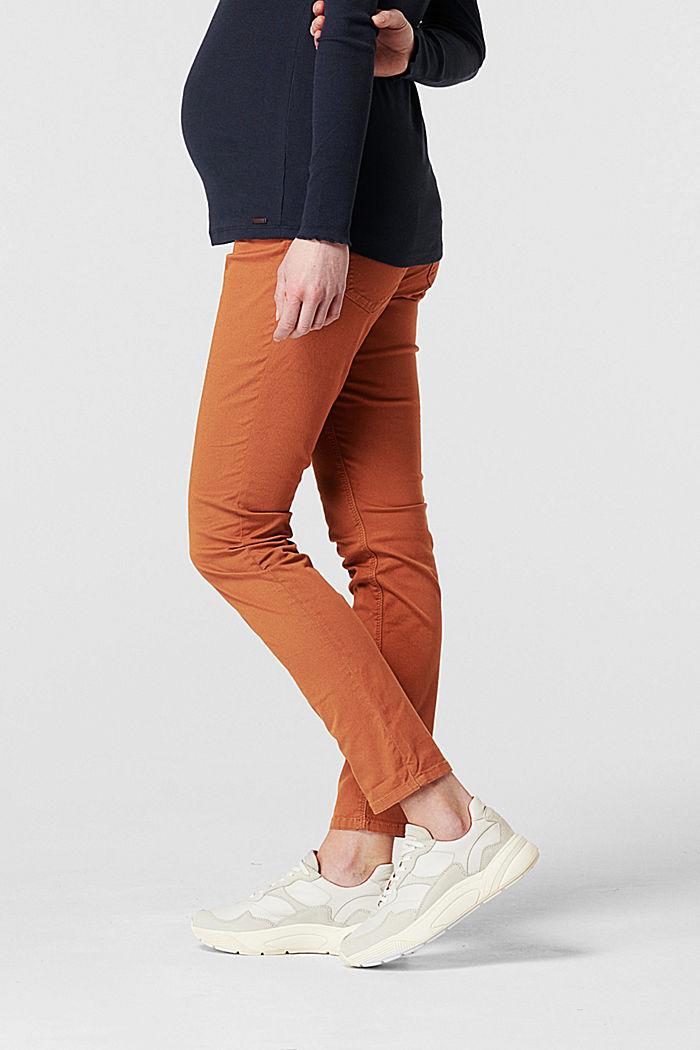 Pantalon stretch à ceinture de maintien ventrale, RUST, detail image number 3
