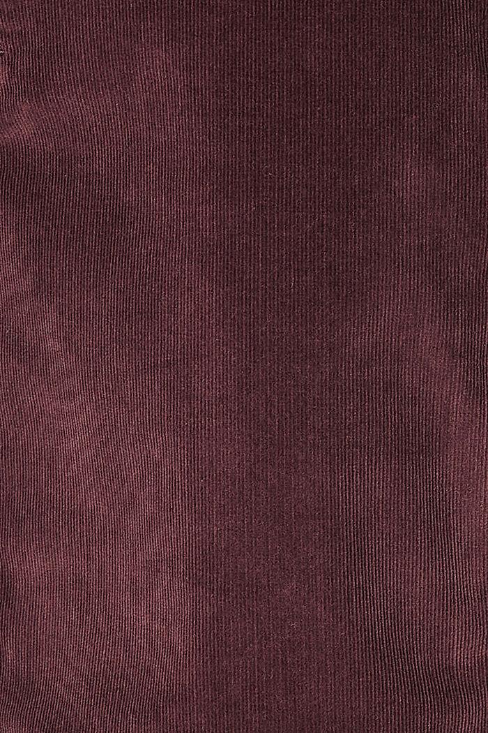 Sztruksowa spódnica z panelem, COFFEE, detail image number 2