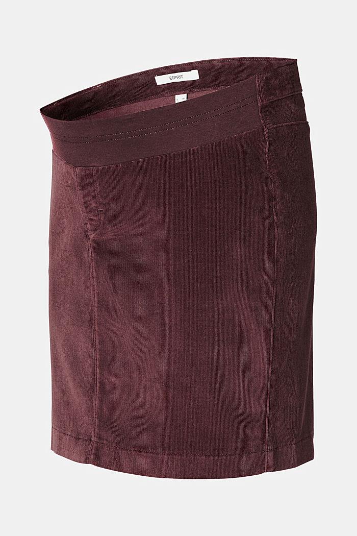Sztruksowa spódnica z panelem, COFFEE, detail image number 4