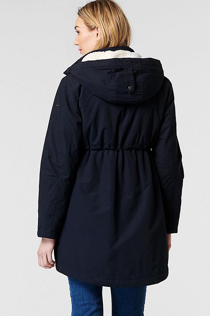 Parka met voering met shearling-look, op 3 manieren te dragen, NIGHT SKY BLUE, detail image number 2