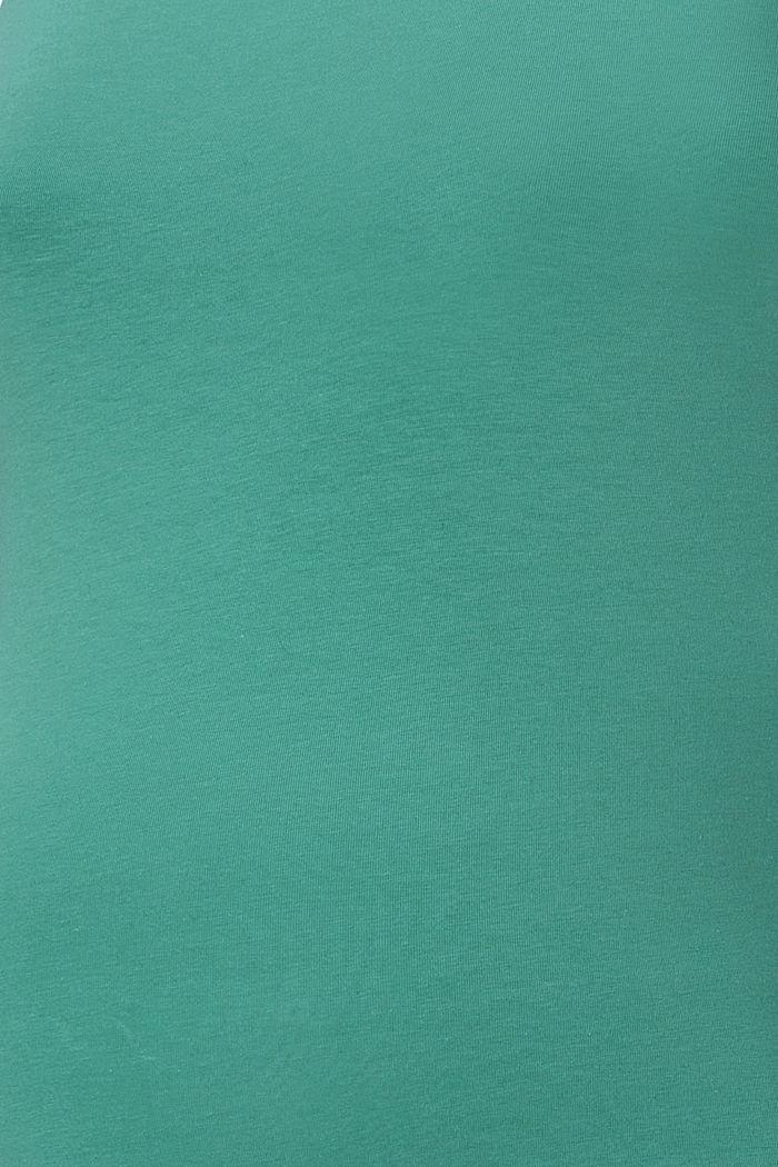 Stretch-Top mit Stillfunktion, Organic Cotton, TEAL GREEN, detail image number 4