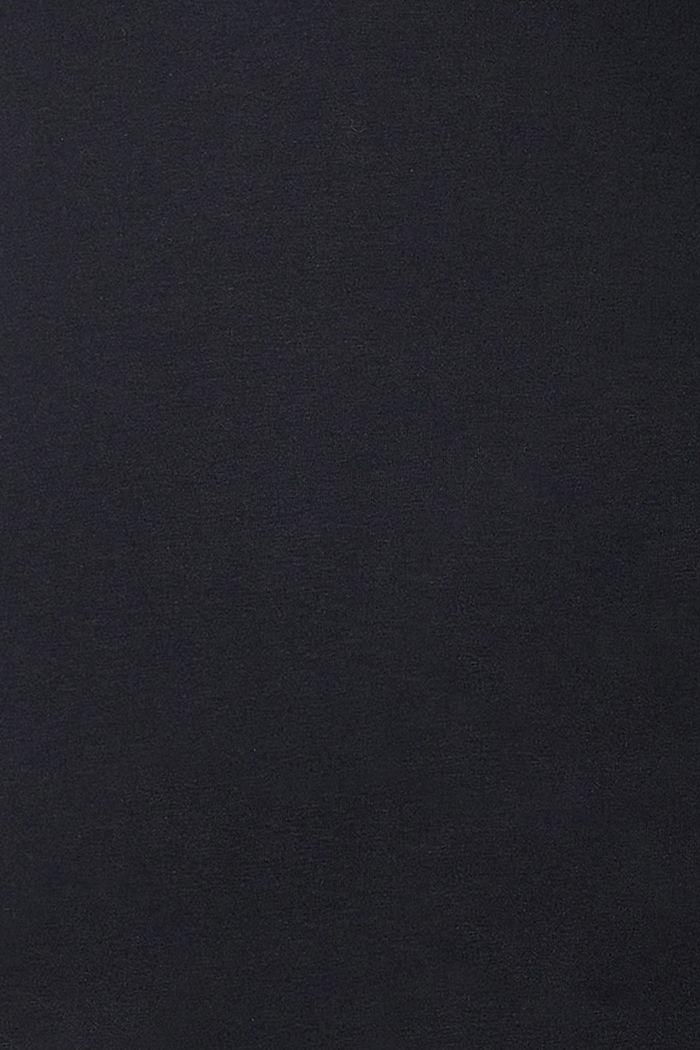 Painettu pitkähihainen luomupuuvillaa, BLACK, detail image number 1