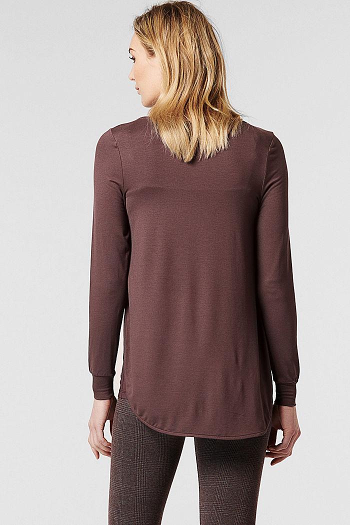 Imetystä helpottava paita LENZING™ ECOVERO™ -materiaalia, COFFEE, detail image number 3