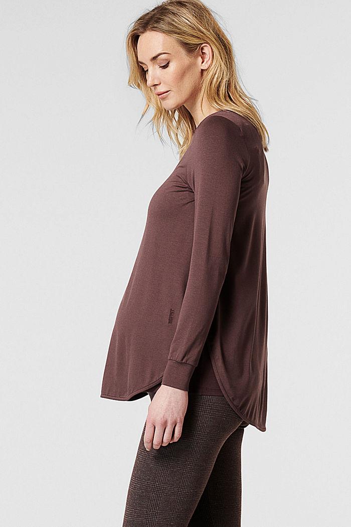 Imetystä helpottava paita LENZING™ ECOVERO™ -materiaalia, COFFEE, detail image number 5