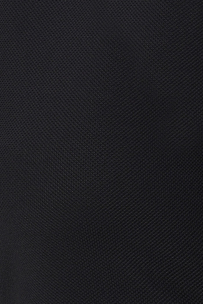 Kierrätettyä: Pintakuvioitu jerseypaita, BLACK, detail image number 2