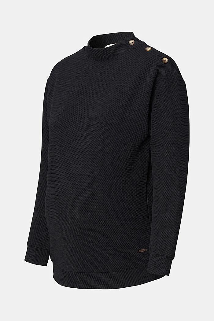 Gerecycled: gestructureerd jersey shirt