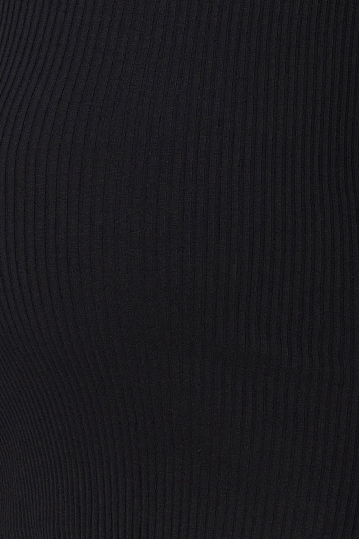 Geribde longsleeve van organic cotton, BLACK, detail image number 2