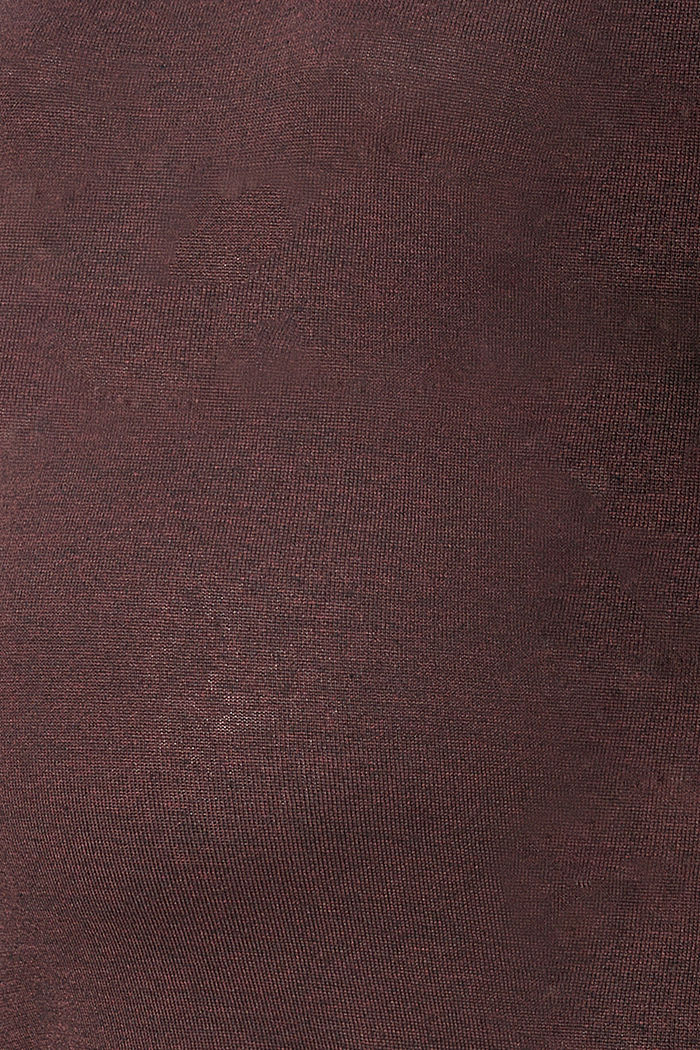 Fijngebreide trui met biologisch katoen, COFFEE, detail image number 2