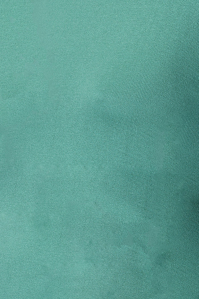 Feinstrick-Pullover mit Bio-Baumwolle, TEAL GREEN, detail image number 2