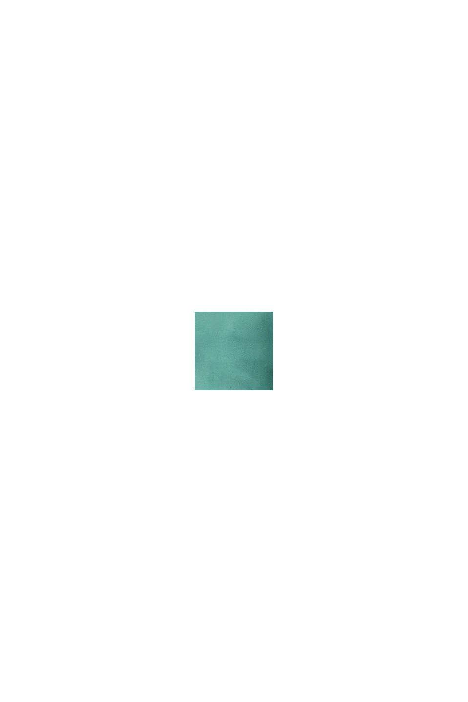Fijngebreide trui met biologisch katoen, TEAL GREEN, swatch