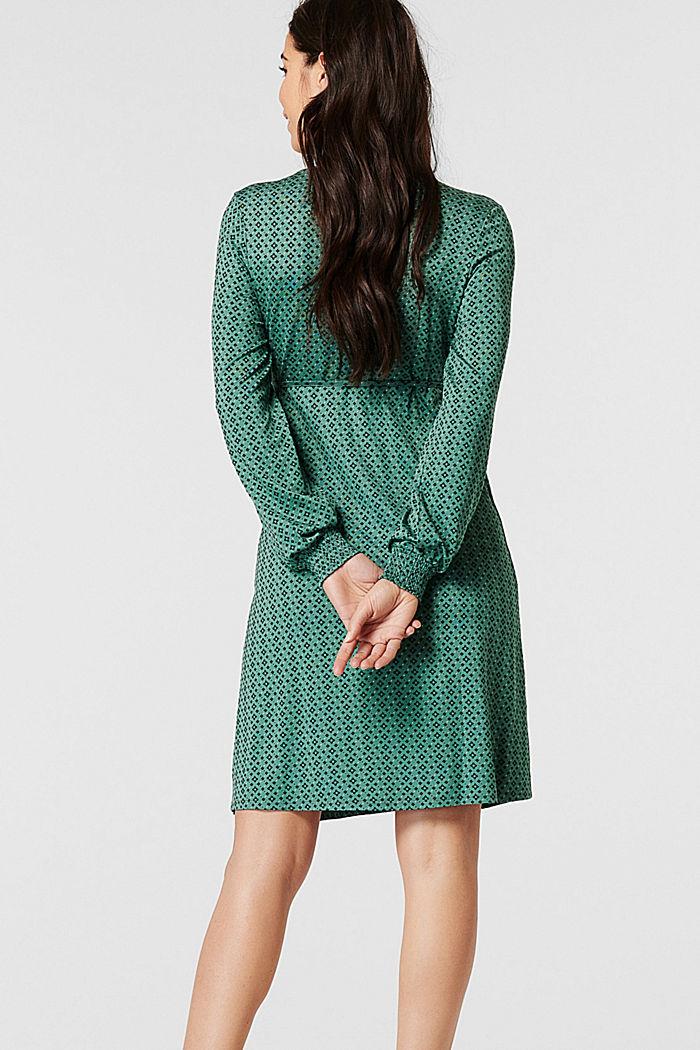 Jersey nursing dress, LENZING™ ECOVERO™, TEAL GREEN, detail image number 2