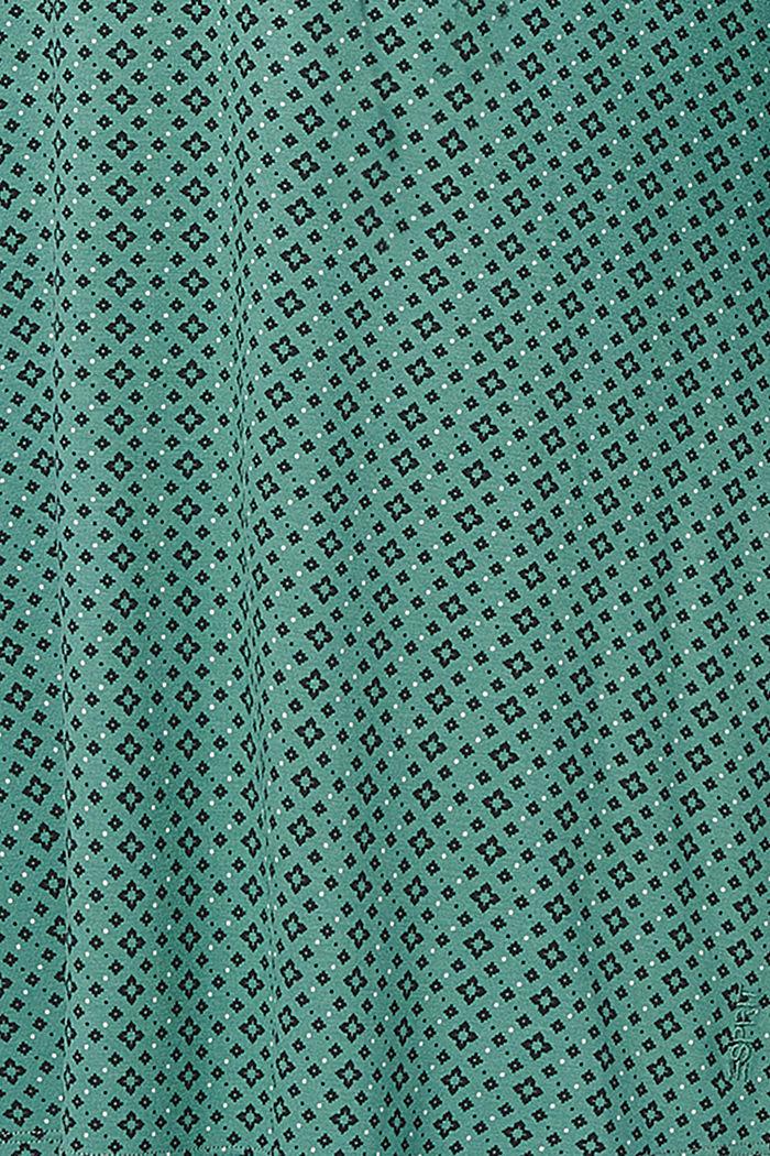 Jersey nursing dress, LENZING™ ECOVERO™, TEAL GREEN, detail image number 5
