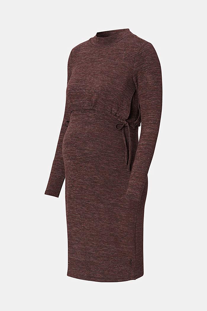 Vestido de punto jaspeado con función de lactancia