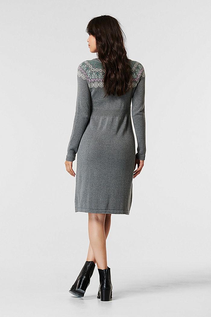 Vestido de punto en una mezcla de algodón ecológico, MEDIUM GREY, detail image number 1