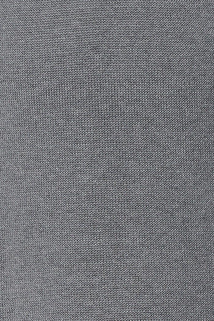 Vestido de punto en una mezcla de algodón ecológico, MEDIUM GREY, detail image number 3
