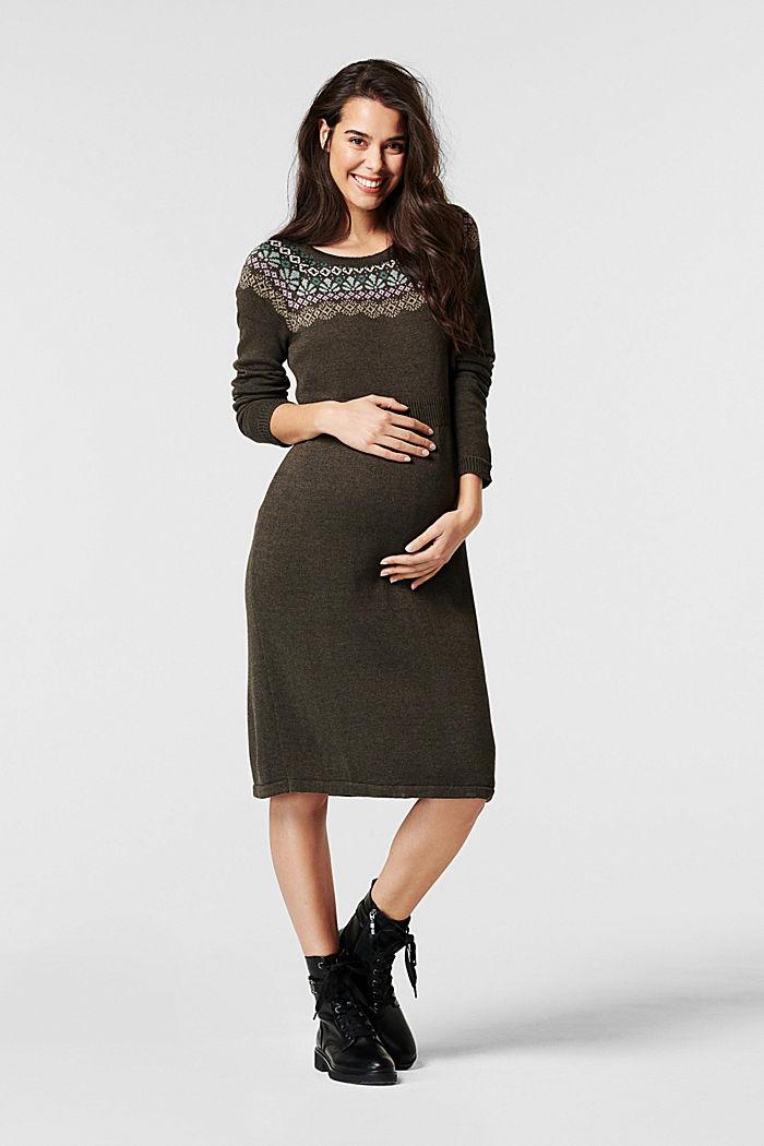 Vestido de punto en una mezcla de algodón ecológico