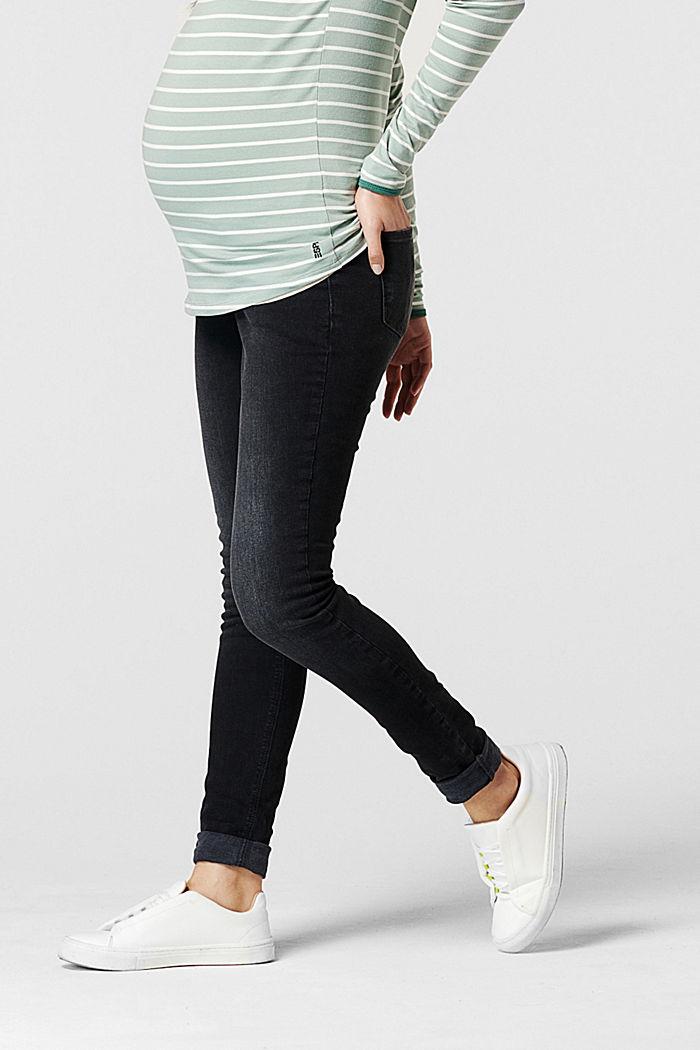 Jean stretch à ceinture de maintien, GREY DENIM, detail image number 3
