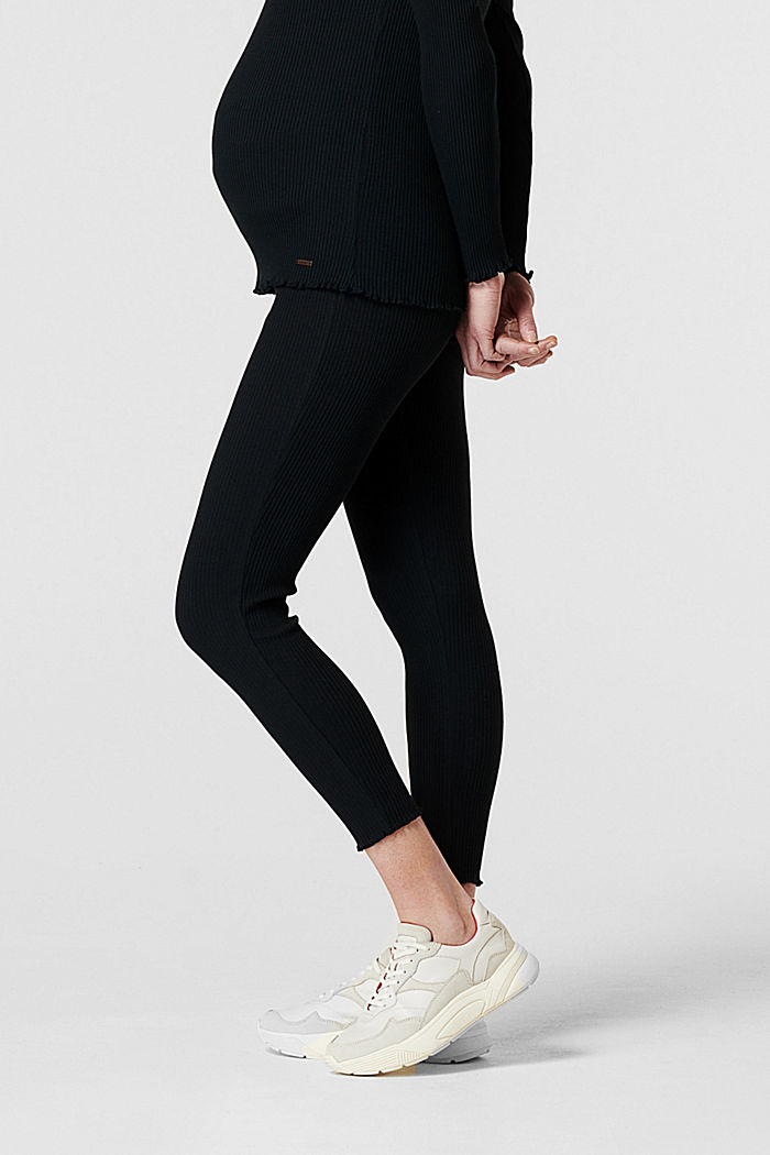 Leggings mit Unterbauchbund, Organic Cotton, BLACK, detail image number 4