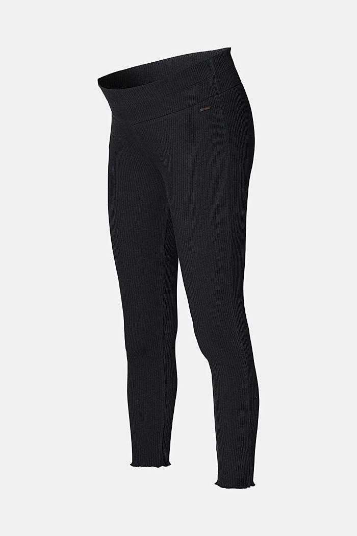 Leggings mit Unterbauchbund, Organic Cotton, BLACK, detail image number 2