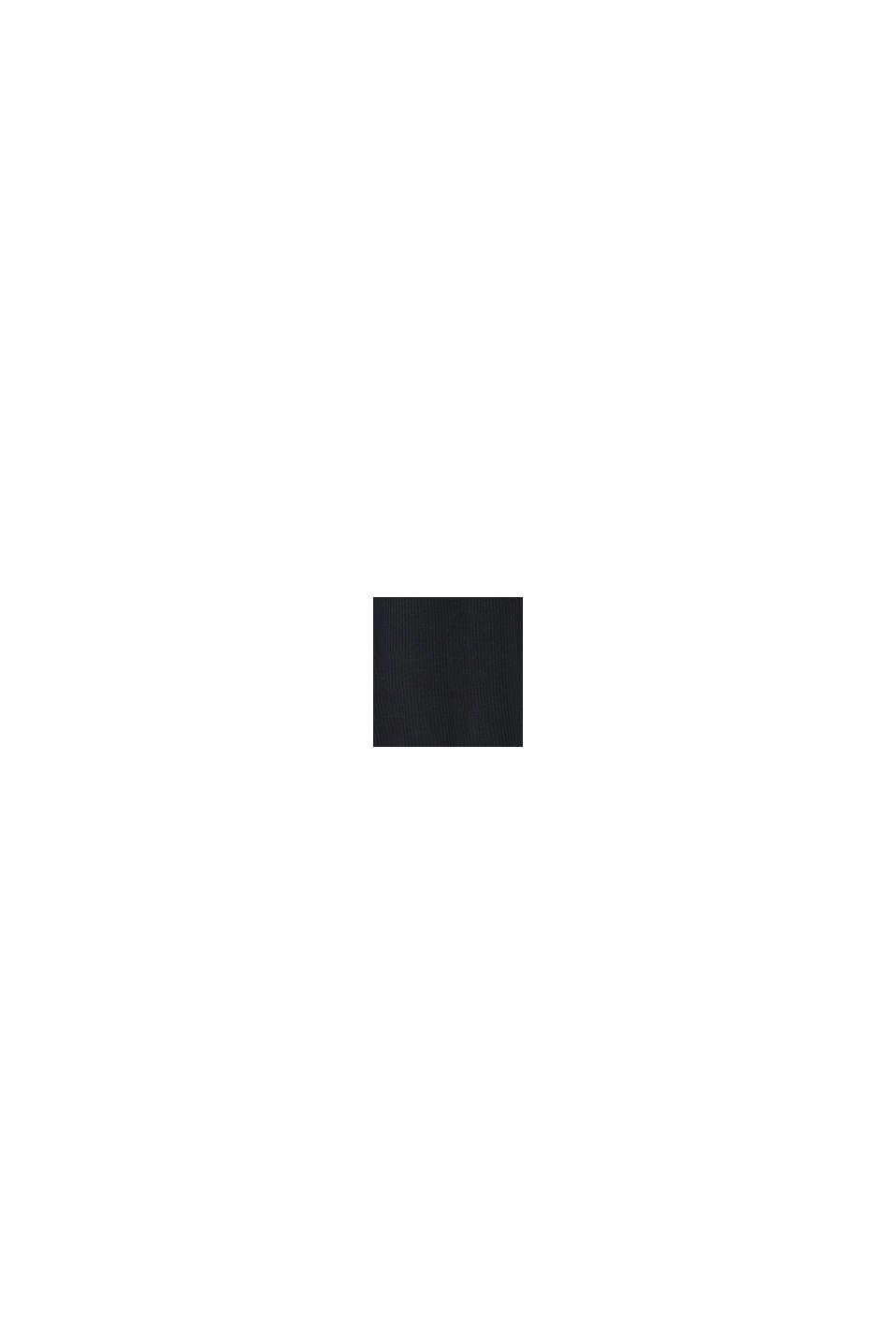 Legginsy z panelem, bawełna organiczna, BLACK, swatch