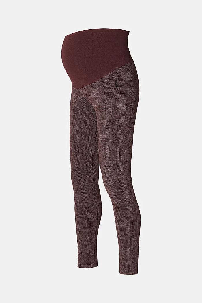 Wzorzyste legginsy z panelem