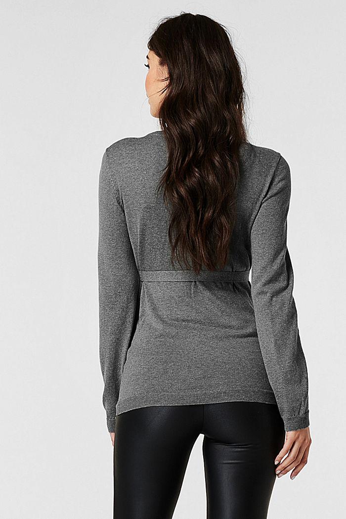 Sweaters, ANTHRACITE MELANGE, detail image number 1