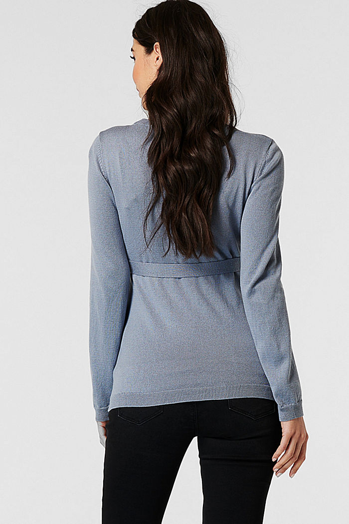 Sweaters, GREY BLUE, detail image number 1