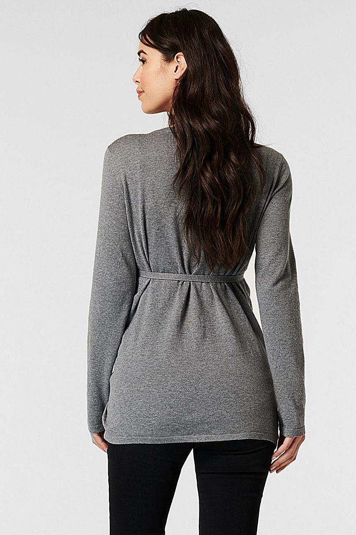 Sweaters cardigan, MEDIUM GREY, detail image number 3