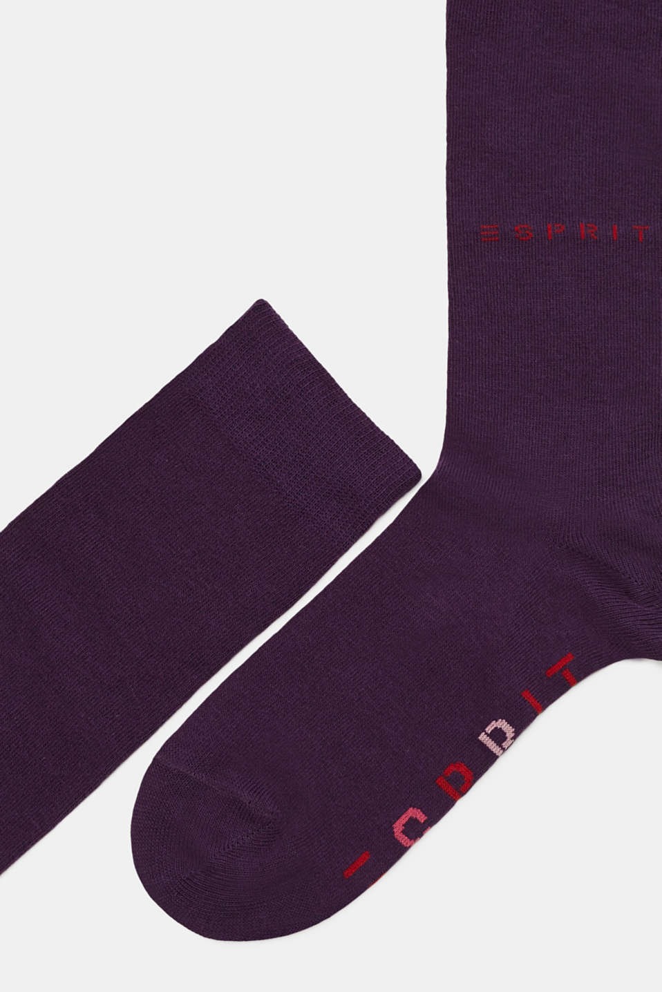 Double pack of knee-high socks with a logo