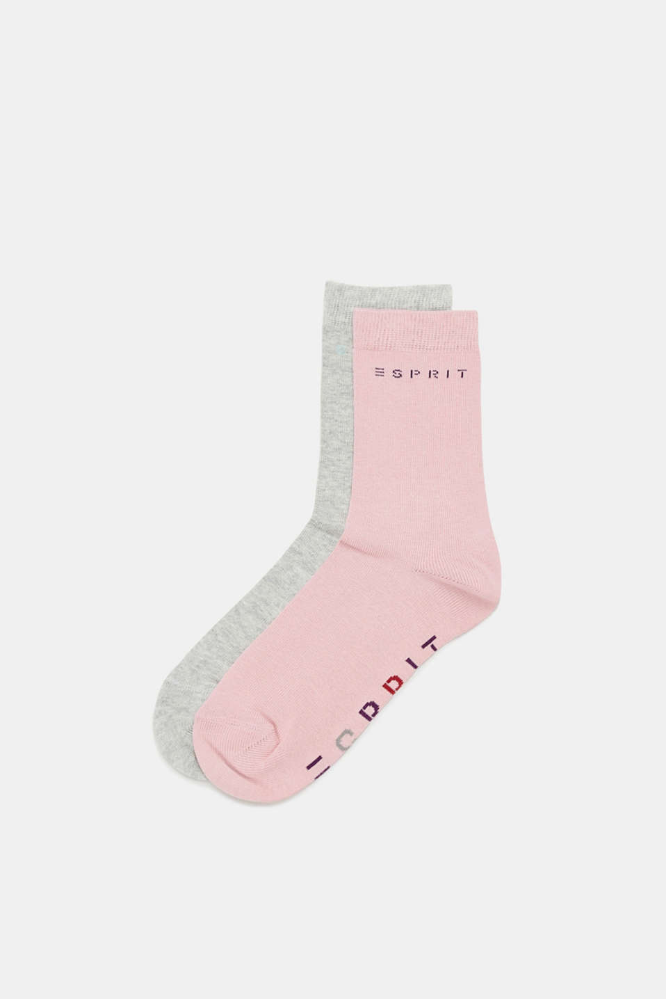 Esprit - Double pack of socks with logo intarsia