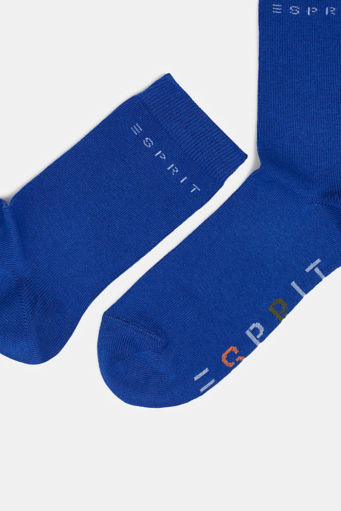 Set van twee paar sokken met ingebreid logo