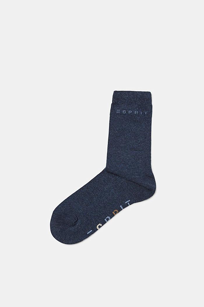 2er-Pack Socken mit Logo-Intarsie, PETROL BLUE, detail image number 0