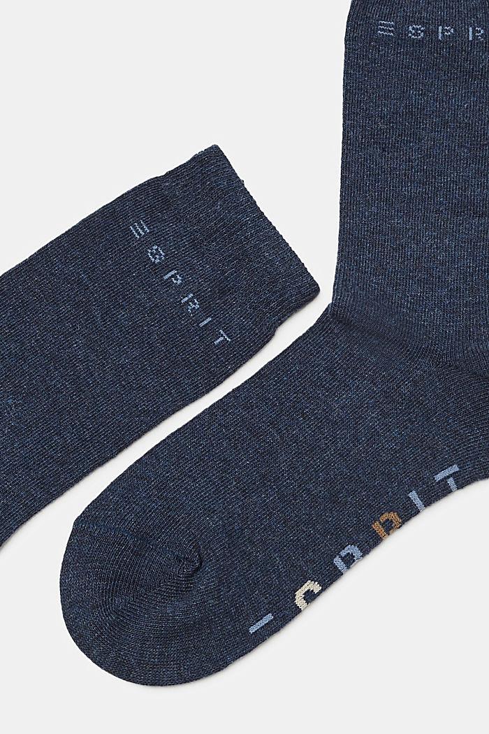 2er-Pack Socken mit Logo-Intarsie, PETROL BLUE, detail image number 1