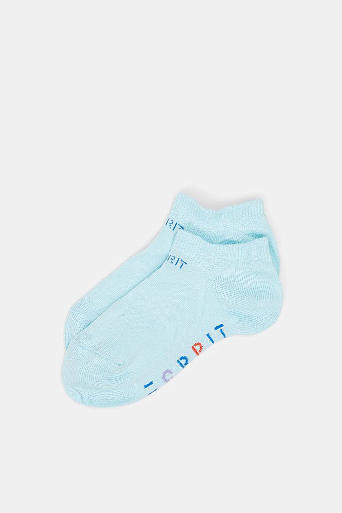 Set van 2 paar sneakersokken met logo, LIGHT BLUE, detail image number 0