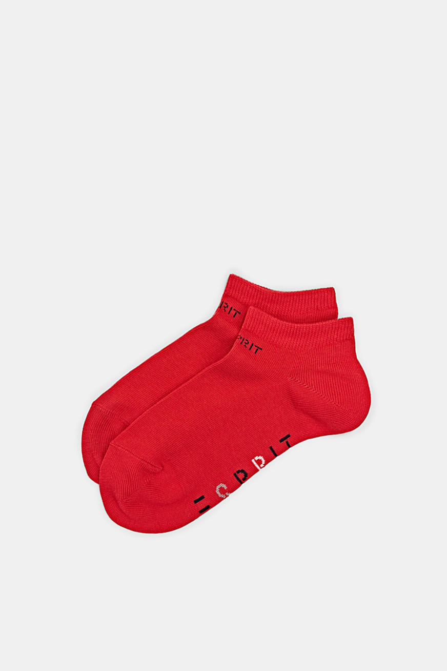 Double pack of trainer socks with logos