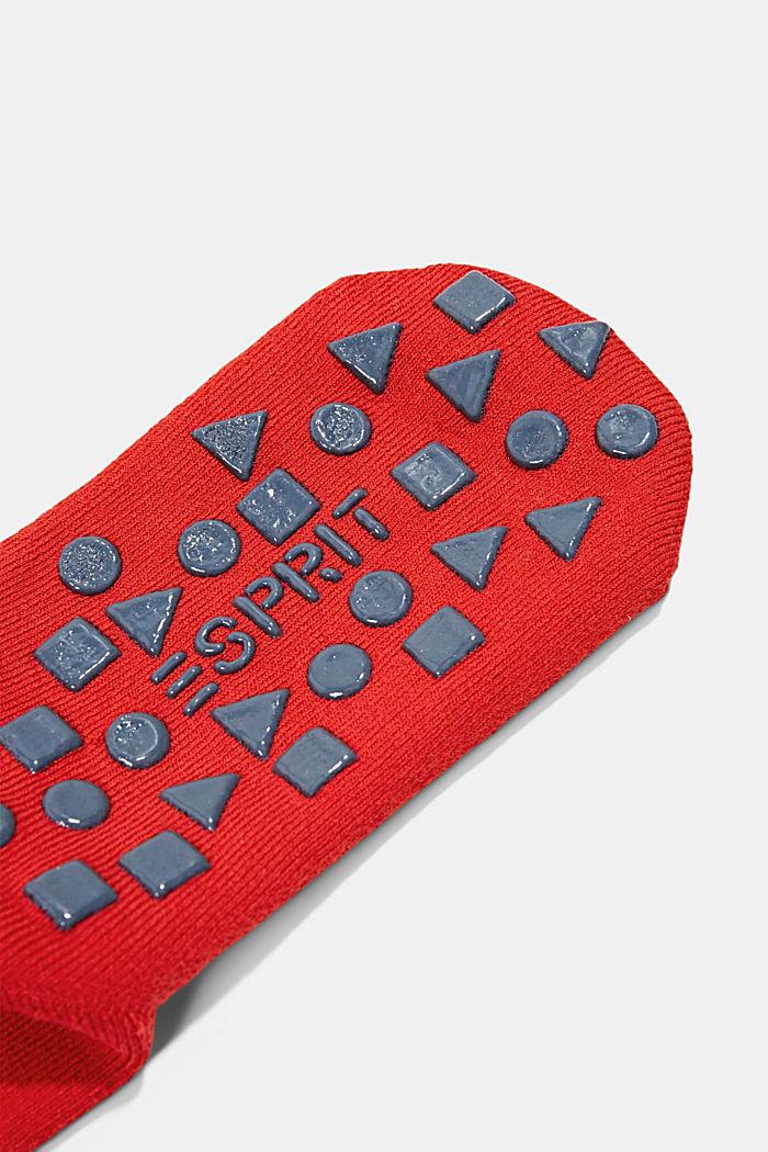 Liukumattomat sukat luomupuuvillaa, RED PEPPER, detail image number 1
