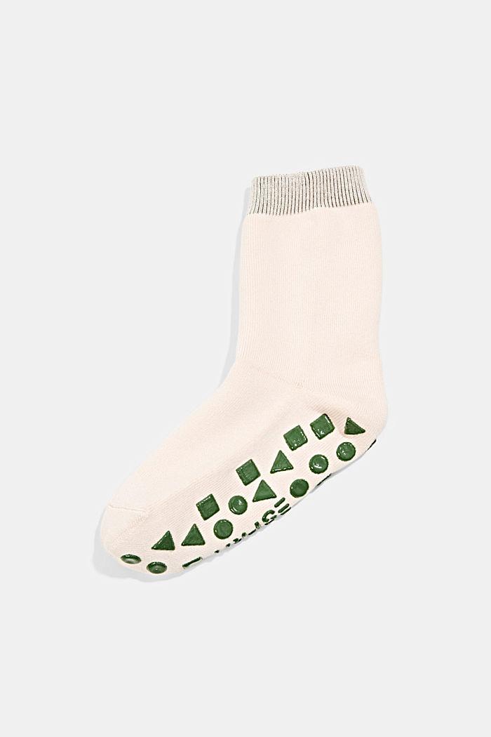Stroeve sokken van een mix met biologisch katoen, ORCHID, detail image number 0