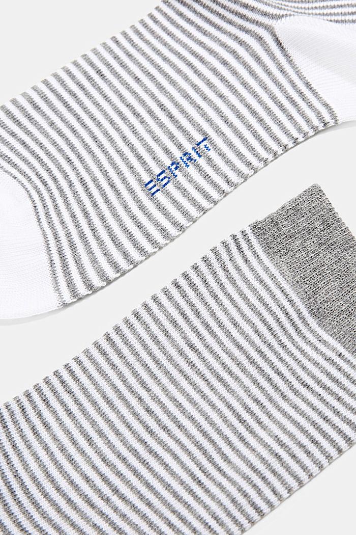 2er Pack Socken aus Bio-Baumwoll-Mix, WHITE/GREY, detail image number 1