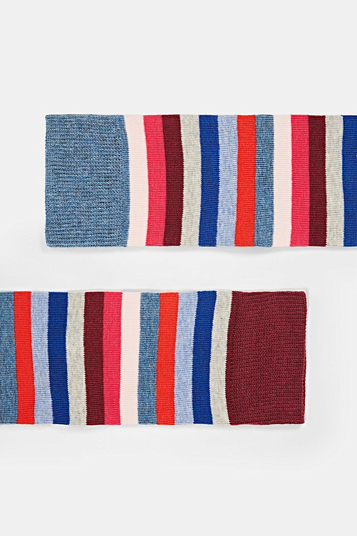 Lot de 2paires de chaussettes hautes en coton biologique mélangé